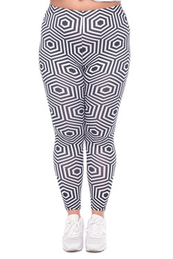 Vision Illusion Leggings - Plus Size