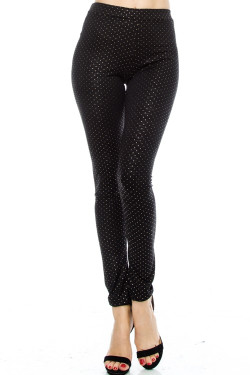 Embellishment Polka Dot Leggings
