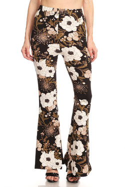 Floral Majesty Bell Bottom Leggings