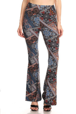 Byzantine Tapestry Bell Bottom Leggings