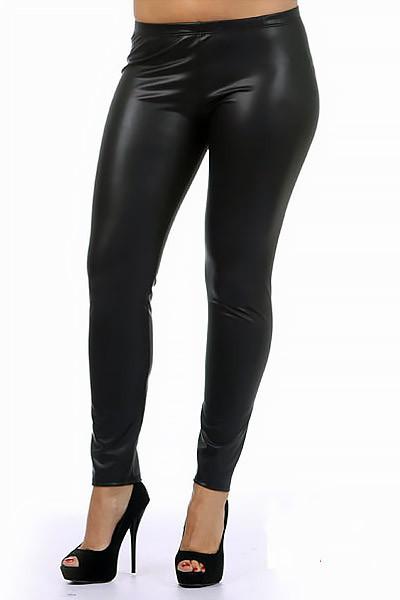 matte faux leather leggings plus size | onlyleggings