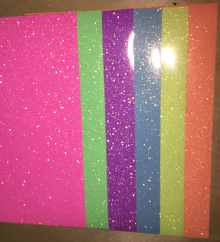 "Siser Neon Glitter - All Color Pack - 6 Colors - 12"" x 10"""
