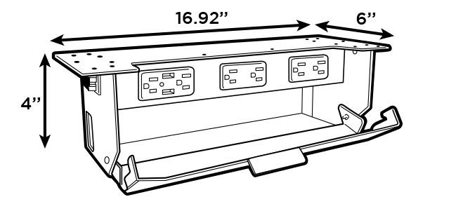 Product Specs for the UPLIFT Desk Power & Data Link