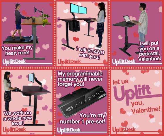happy valentine's day ergonomics uplift standing desk