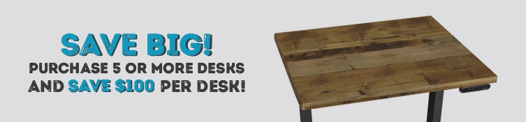 Purchase 5 or more desks from this page and instantly save $100 per desk. Shop UPLIFT desks now.