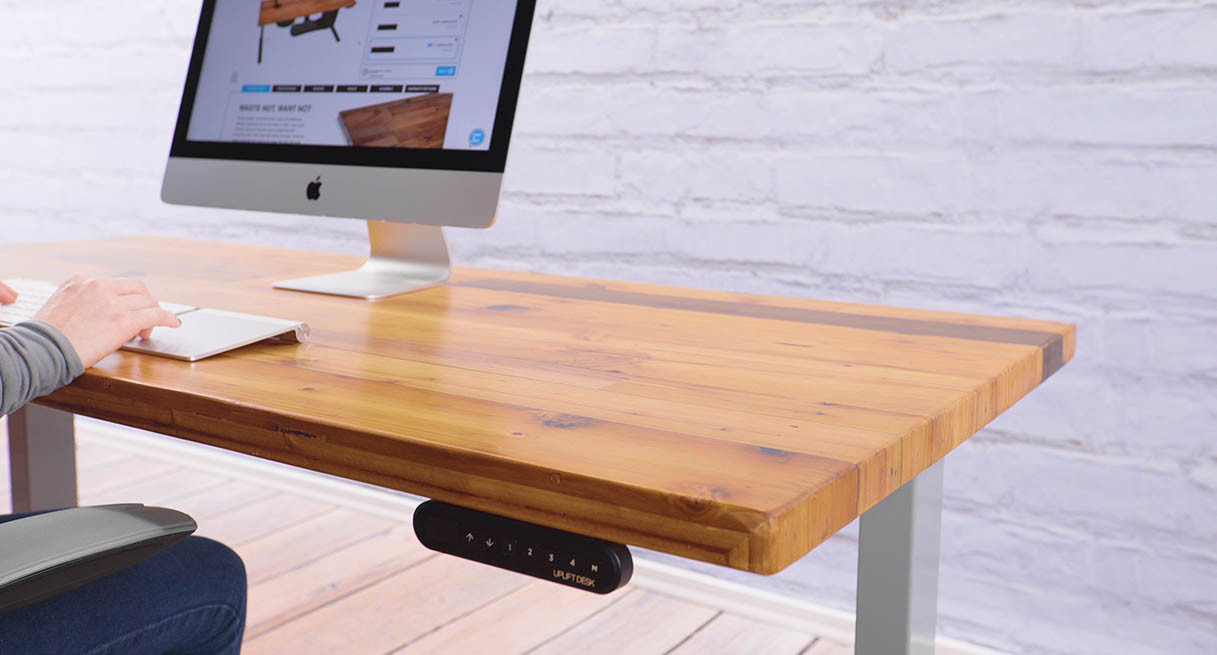 Uplift Reclaimed Wood Stand Up Desks Real Recycled Lumber