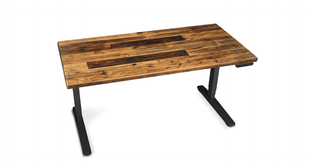 "Handcrafted and naturally sourced, the UPLIFT Reclaimed Wood Stand Up Desk delivers 26"" of electric height adjustment"