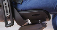 Synchro-tilt mechanism allows for the seat and back angle to adjust automatically and provide ideal support while users change from upright to reclining postures