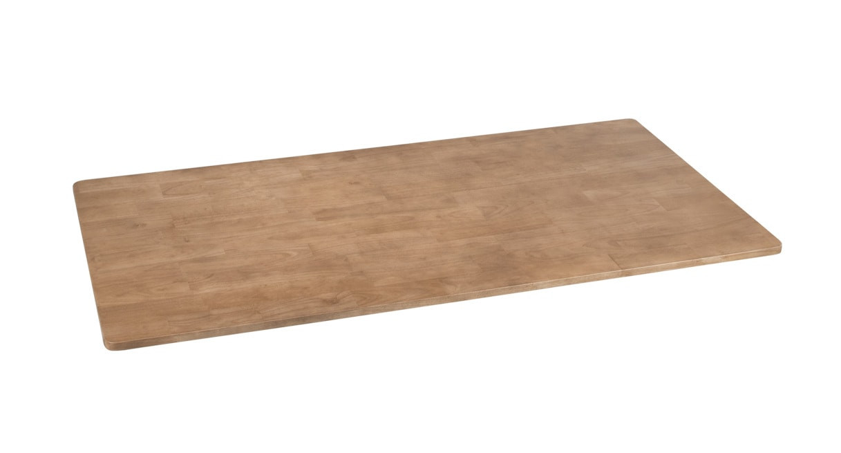 Rubberwood Solid Wood Desktops by UPLIFT Desk are sustainable and eco-friendly office additions