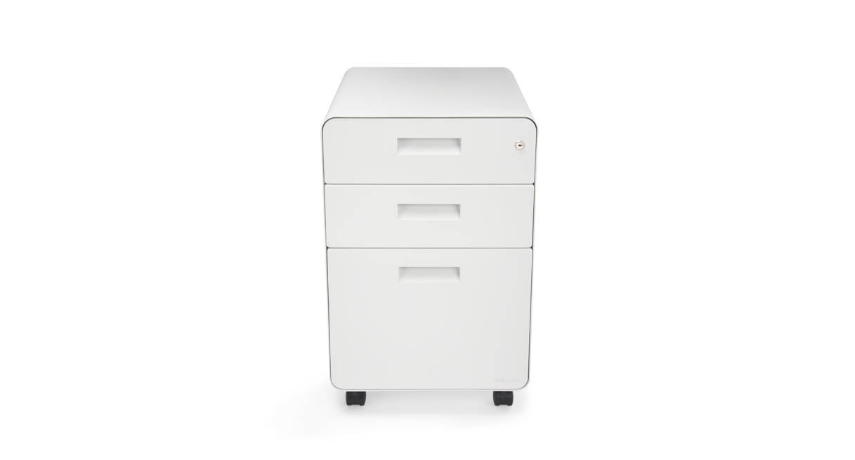 Get A Sit Stand Storage Solution In Crisp White To Match Your Accessories