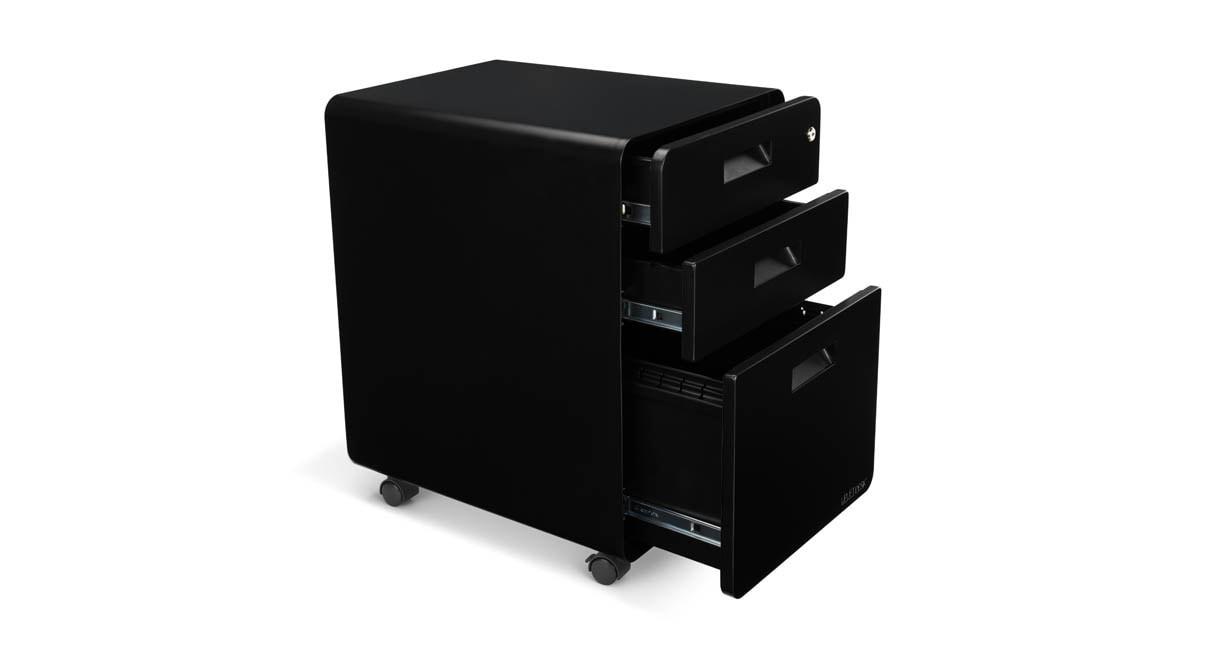Drawer File Cabinet By UPLIFT Desk Human Solution - 3 drawer black file cabinet