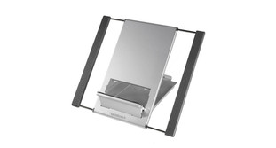 The Goldtouch Go! Travel Notebook Stand boasts a sturdy, lightweight aluminum construction