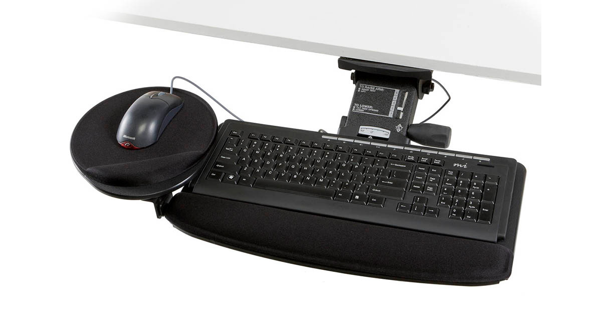 Mouse Platform Can Be Adjusted To The Left Or Right Of Keyboard And