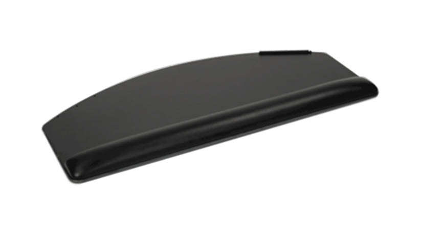 The ESI Keyboard Tray with PL006 Radius Platform allows you to type and mouse on a single surface