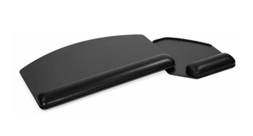"18.75"" platform includes a right or left swing-below mouse platform"