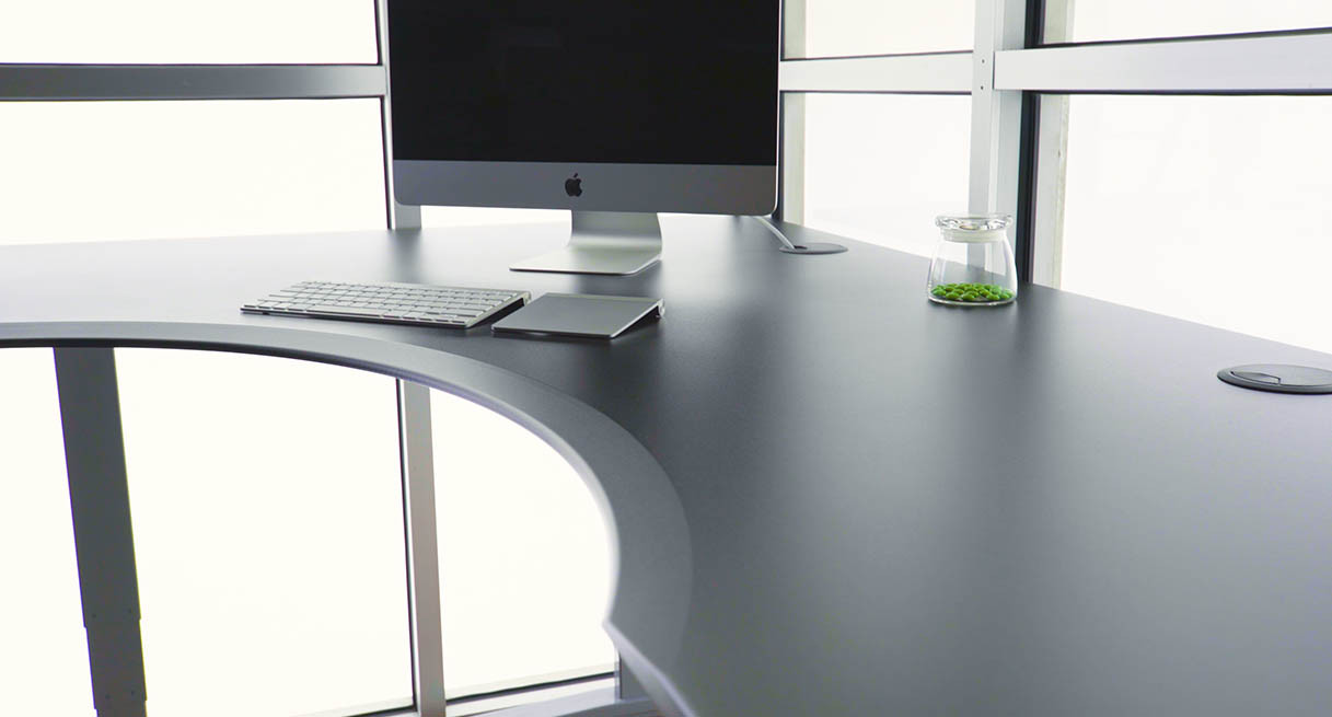 Uplift Eco Corner Sit Stand Desk With L Shaped Top Sit