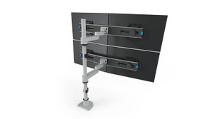 Extended reach arms feature 3 articulation joints for more versatility, as well as cable management