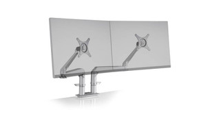 Sleek, modern design with two individually adjustable arms