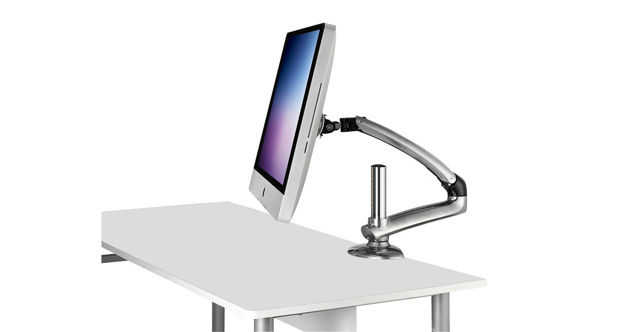 The Ergotech iMac Freedom Arm delivers 360° rotation