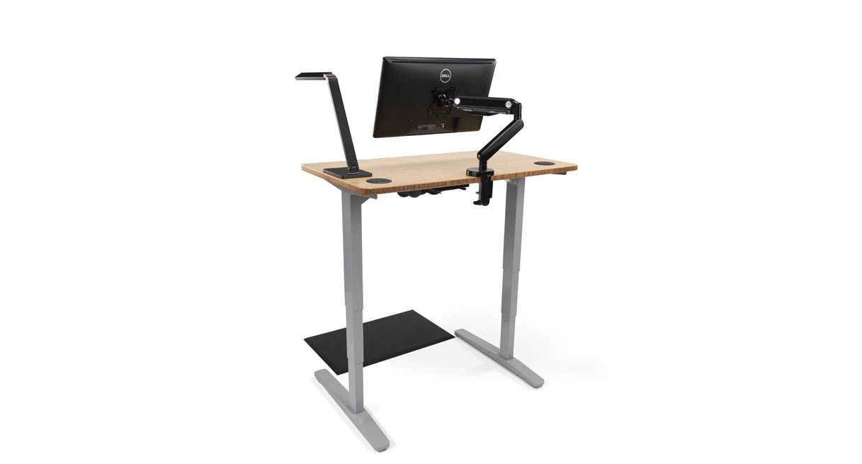 "The UPLIFT Space Saver Standing Desk delivers 26"" of reliable height adjustment to get you to that working sweet spot quicker"