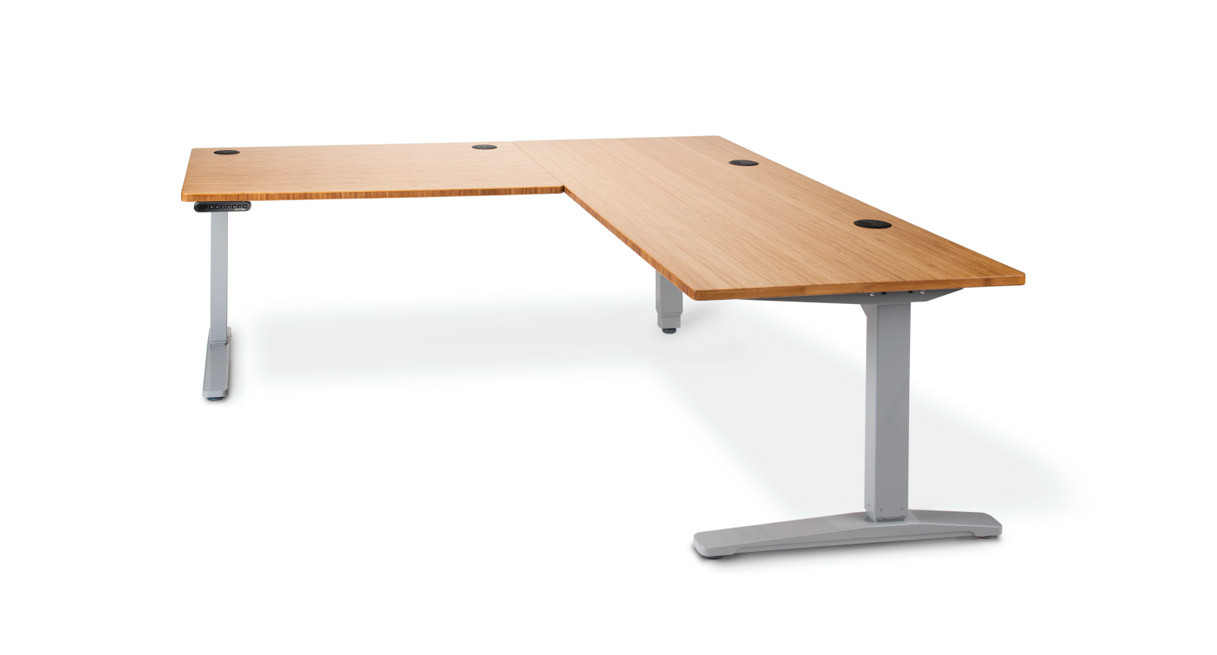 Shop Uplift Height Adjustable Standing Desk With L Shaped Top