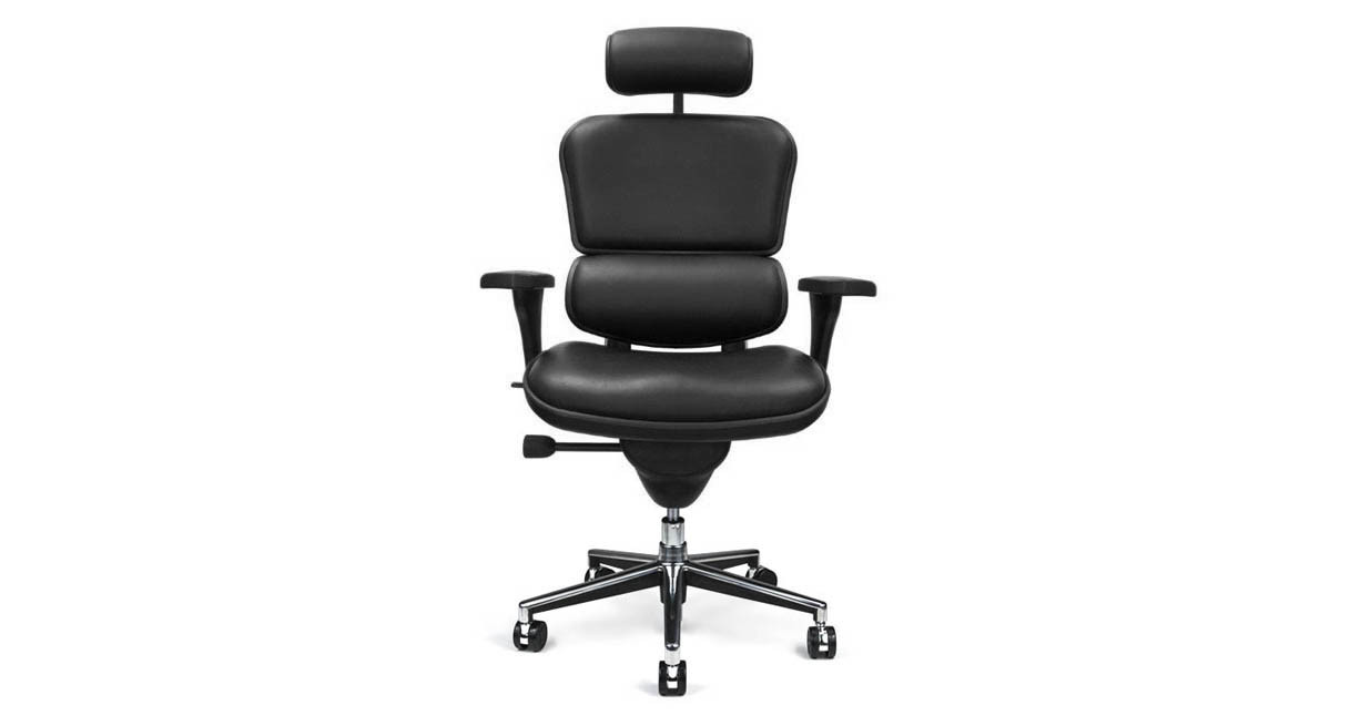 Office Chair Leather Shop Raynor Ergohuman Chairs Leather With Headrest Le9erg
