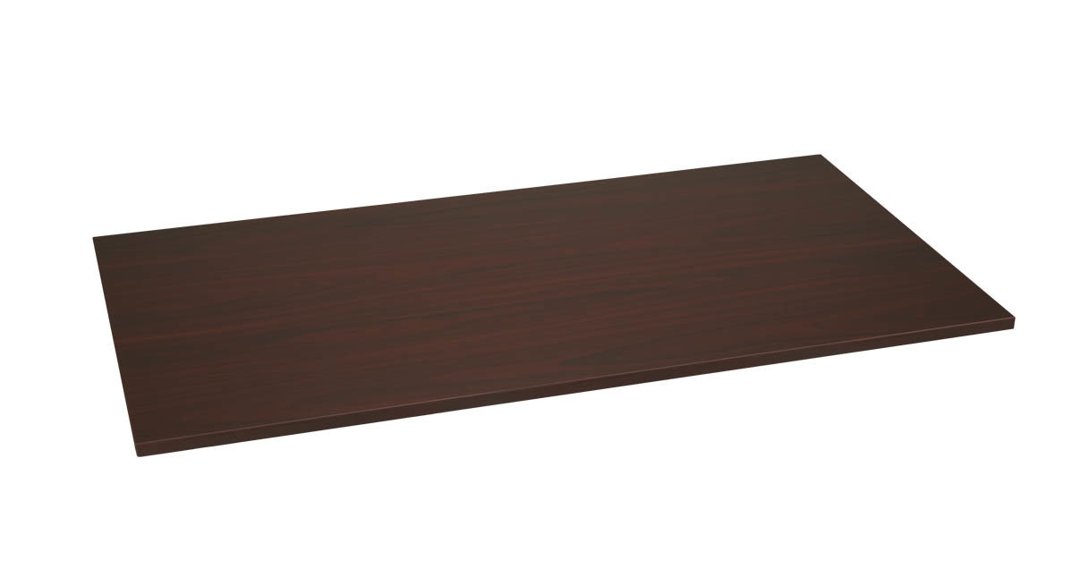 Mahogany wood finish makes our UPLIFT Rectangular Classic Laminate Desktops luxurious and stunning additions to any workspace