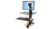 Tool-free easy sitting to standing adjustments with the Ergotron WorkFit-S Sit-Stand Workstation
