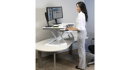 Allows you to get some movement in throughout your work day