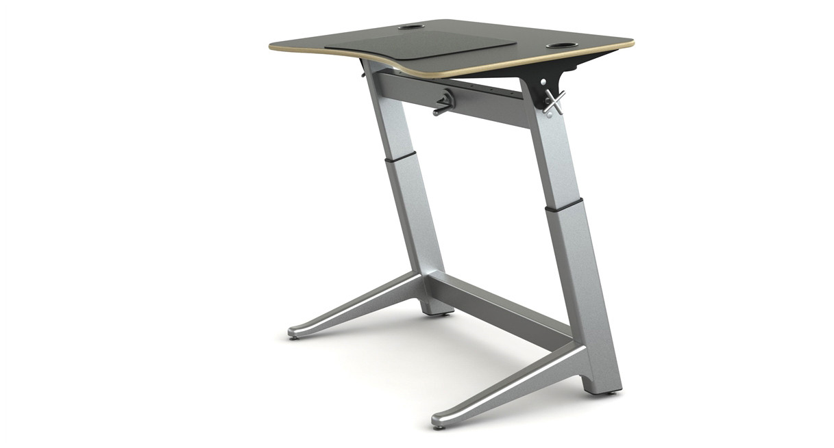 NonElectric Standing Desks Shop Pneumatic Crank and Non