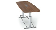 Features a German hand crank that lifts and lowers the entire conference table smoothly
