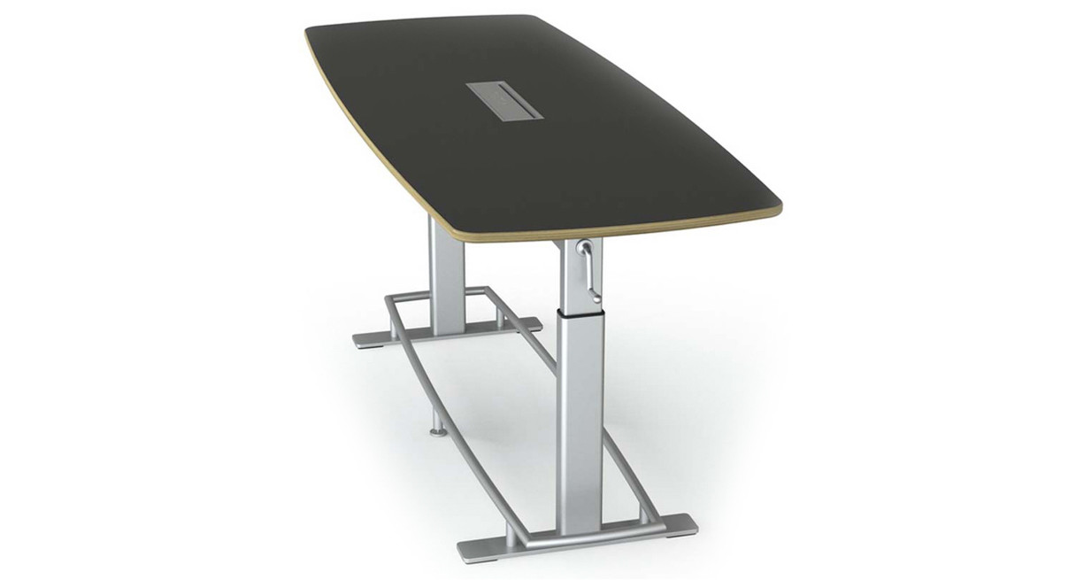conference table can be purchased as a bundle with 6 or 8 focal mobis stools to
