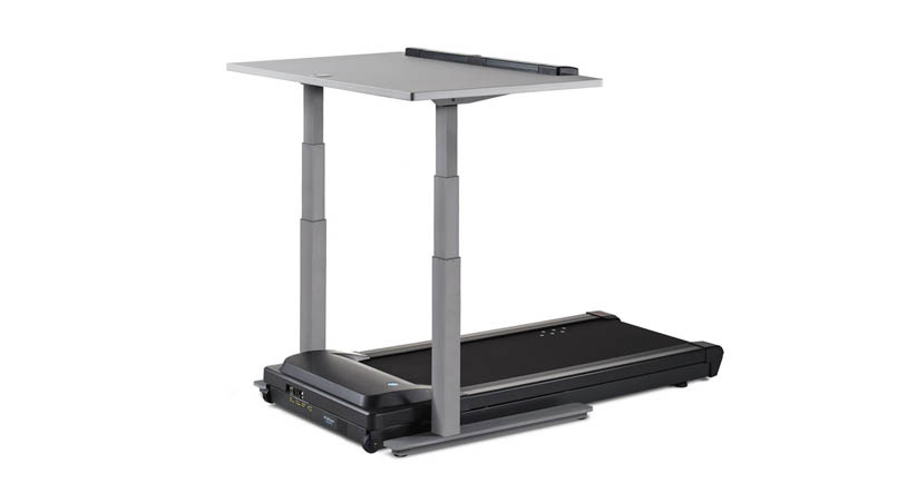 """Desk adjusts for users from 4'10"""" to 6'8"""" tall via an electronic control panel with 2 programmable presets"""