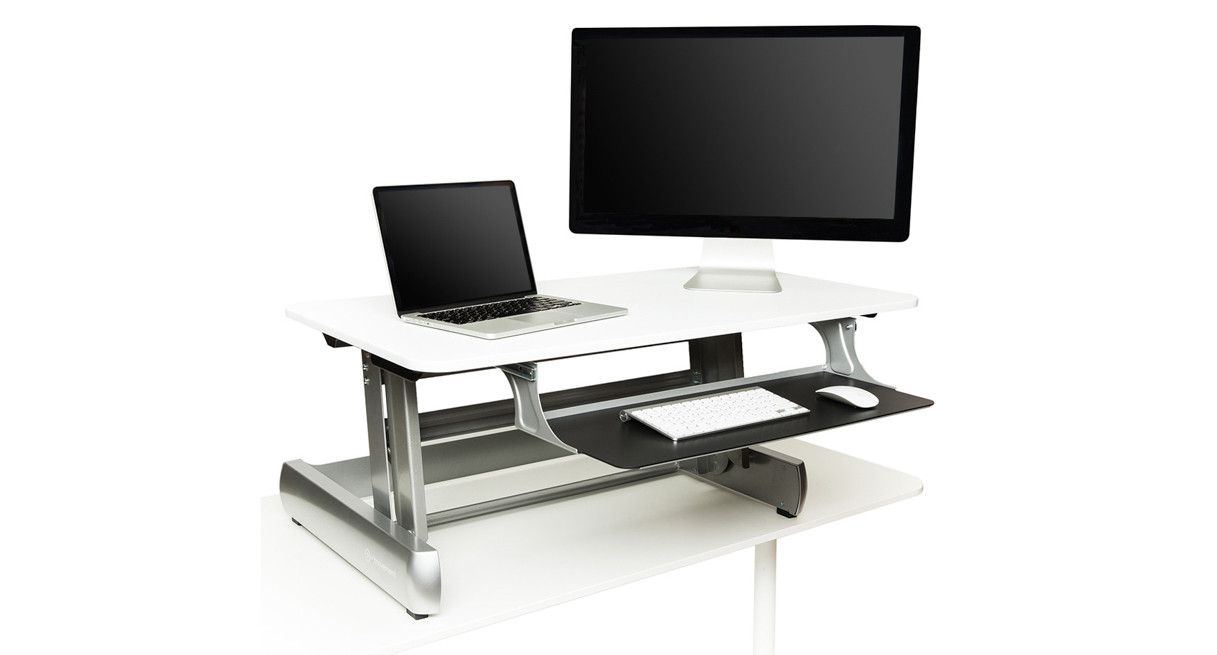 Standing Desk Converters Turn Your Office Desk into a Stand Up Desk