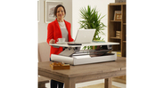 The InMovement Elevate Desktop DT2 Standing Desk boasts a weight limit of 35 pounds