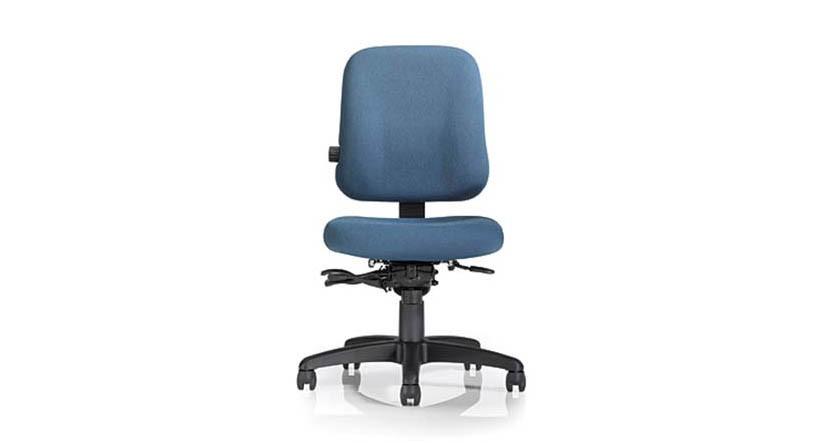 Mild saddle-contoured seat cushion
