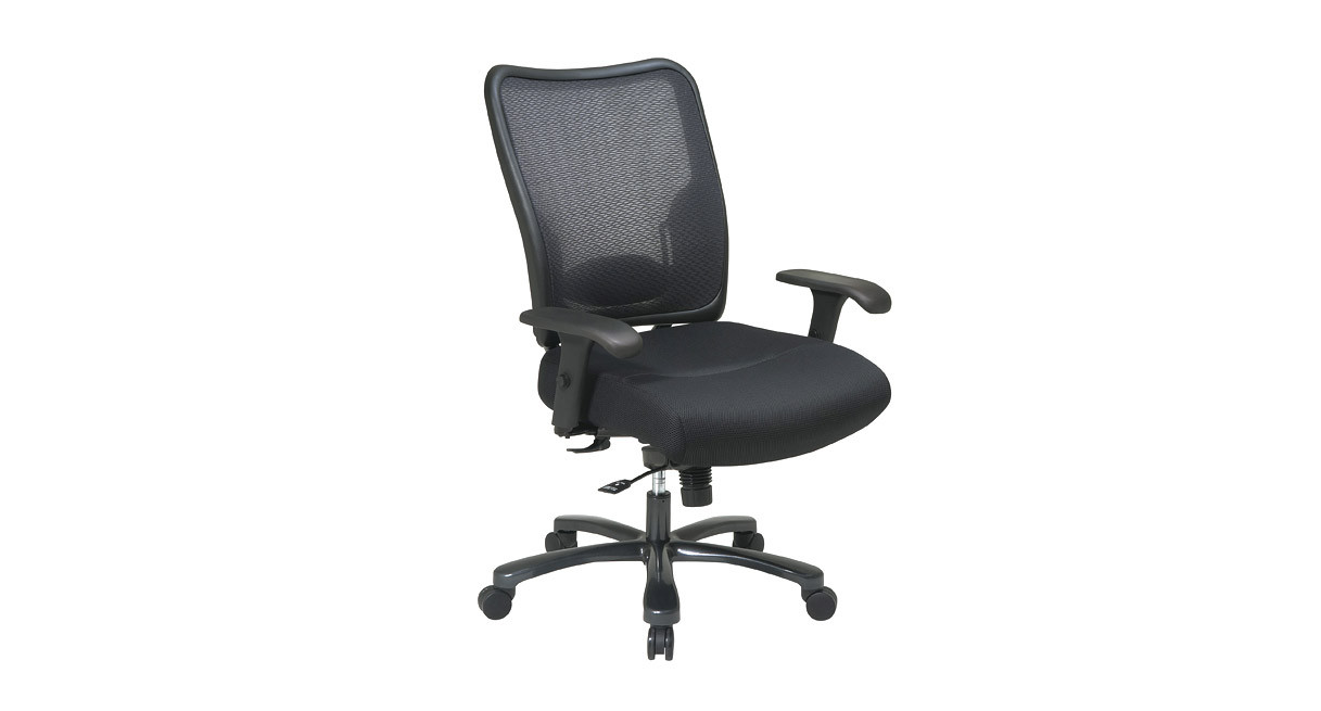 Thickly padded seat with a breathable mesh backSpace Chair Mesh Back Big   Tall Ergonomic Chair 75 37A773. Office Star Ergonomic Chair. Home Design Ideas