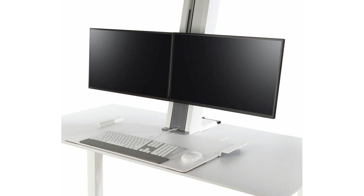 Adjustable Stand Up Desk >> Humanscale QuickStand Adjustable Workstation - Dual Monitor