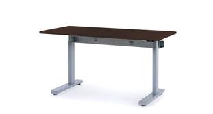 Silver Satin powder-coated metal legs elevate 150 lbs easily