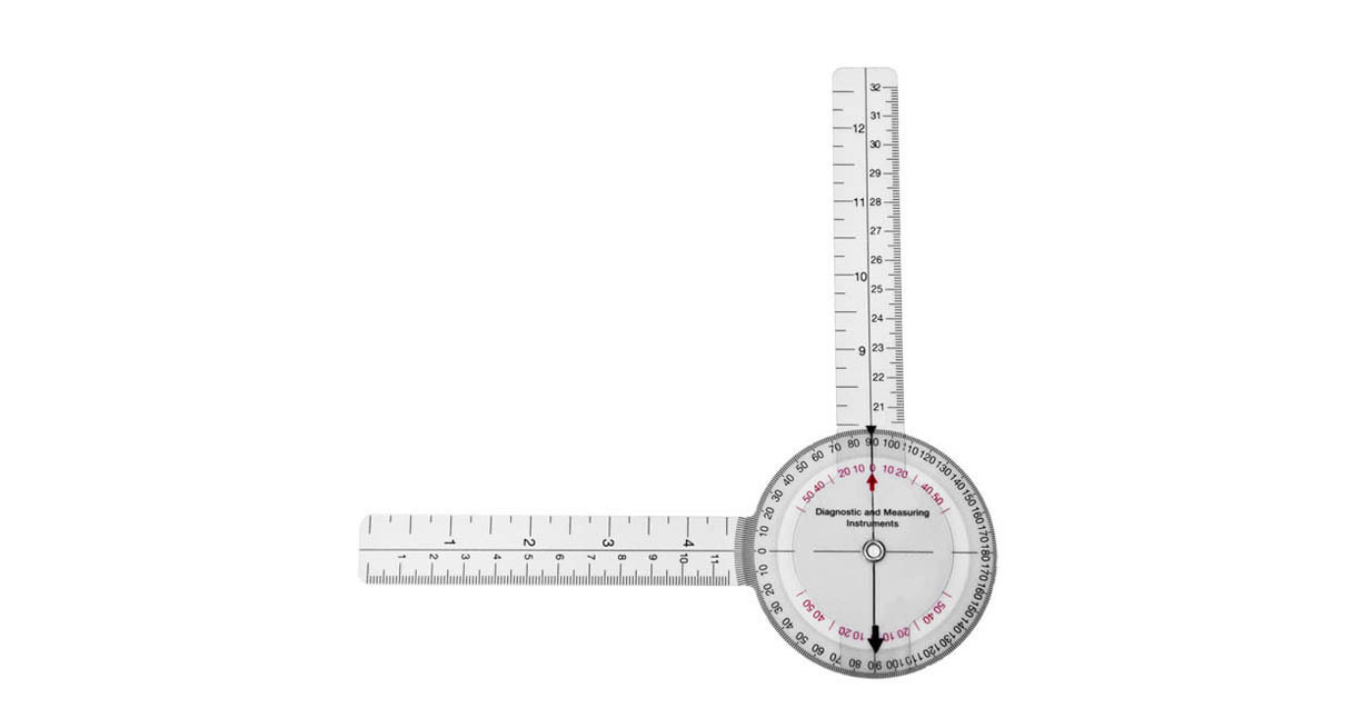 Scale reads in 1 degree increments