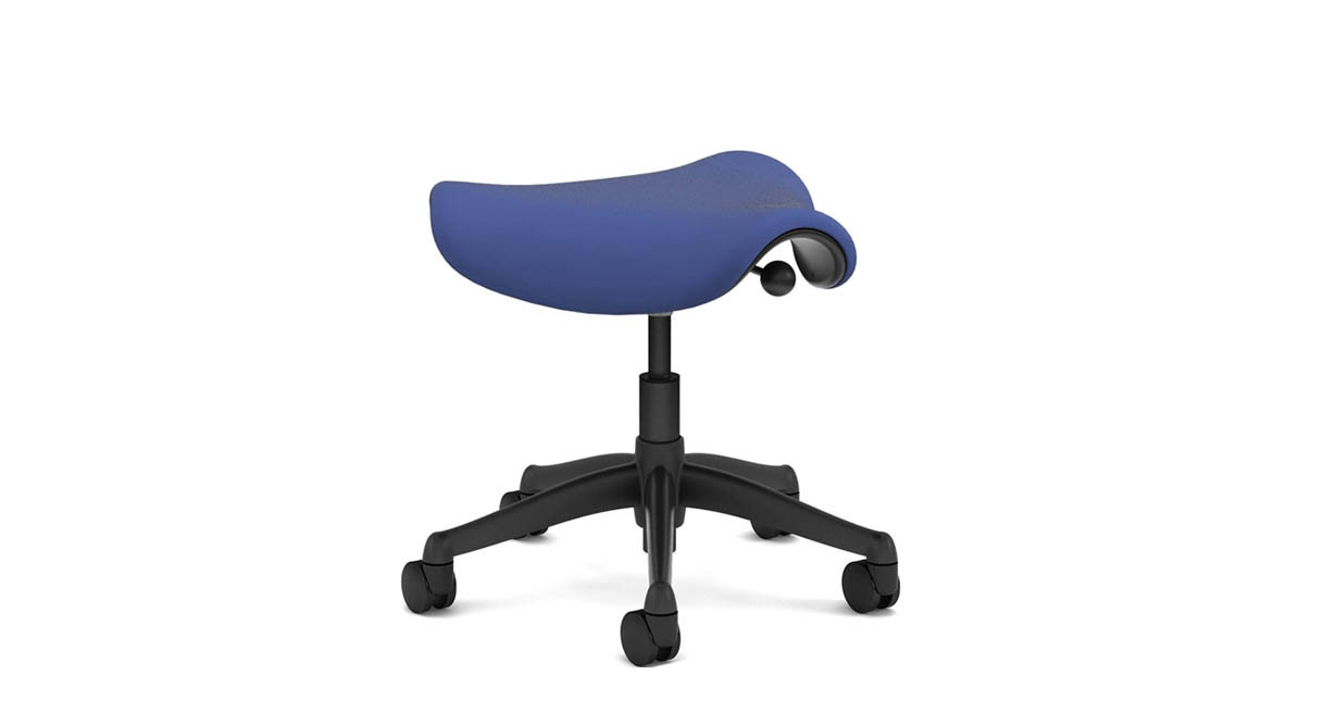 ergonomic chair betterposture saddle chair. features a triangular cushion that encourages users to sit in ergonomic chair betterposture saddle