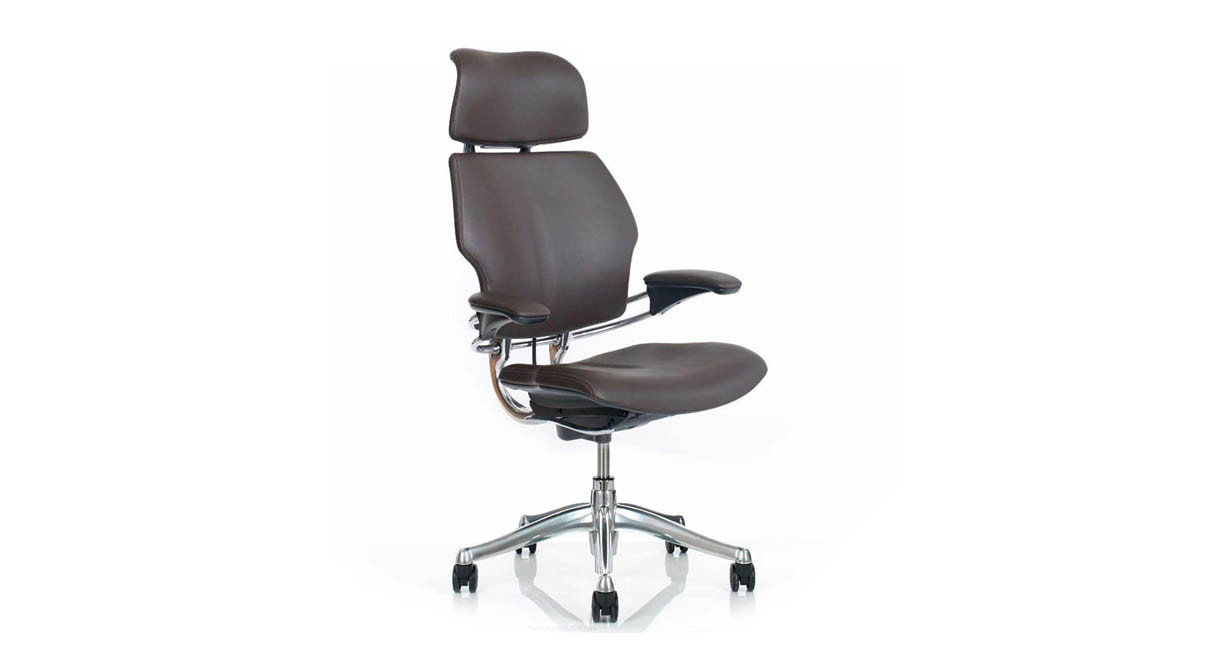 Freedom chair leather - Headrest Cushion Moves With The Natural Curve Of Your Head And Neck