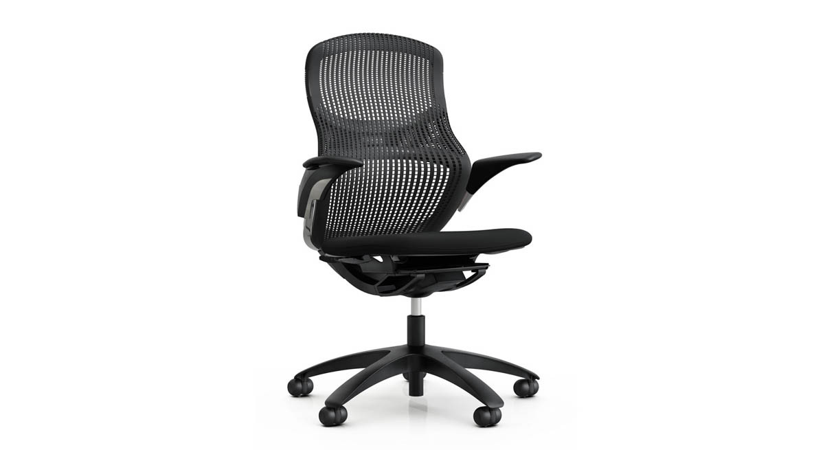 knoll generation chair  shop knoll office chairs - high performance elastomer in flexnet back and dynamic suspension controlare userfriendly