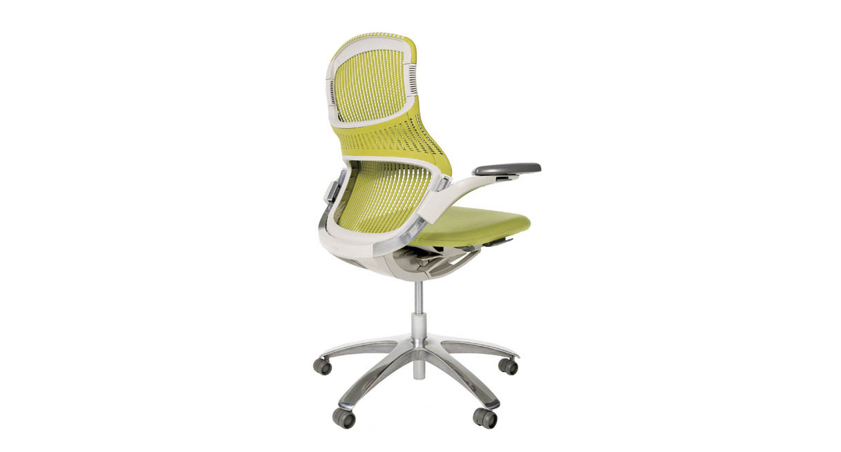 knoll generation chair  shop knoll office chairs - heightadjustable arms provide lumbar support when sitting sideways