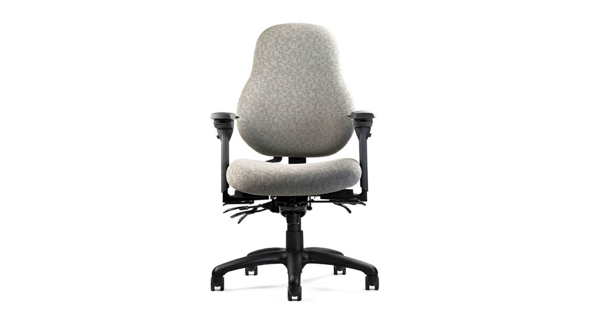 The Neutral Posture 8000 Series Ergonomic Chair features a contoured high back for extraordinary upper back and lumbar support