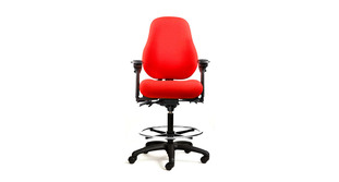 contoured high back for upper back and lumbar support neutral posture series drafting chair - Drafting Chairs