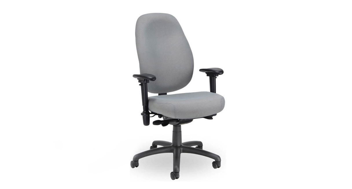 The Seating Inc. Contour 400 24/7 Task Chair features contoured lumbar support