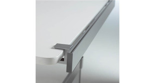 "Clamps onto freestanding desks or height-adjustable up to 2"" thick"