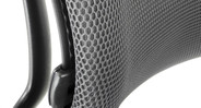 Mesh fabric allows for extra airflow