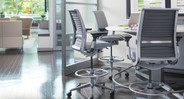 Upgrade the seating in your office with the introduction of the Think Drafting Stool